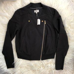 LOU & GREY black jacket diagonal zipper XS